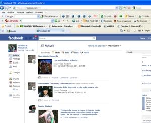 la mia home page su FB